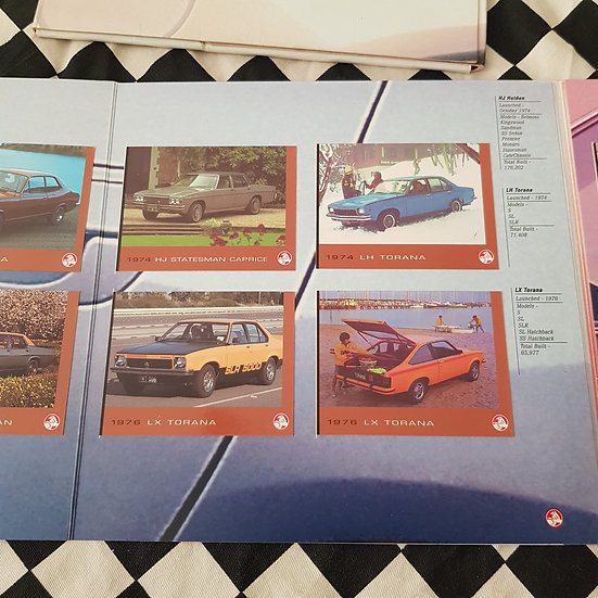 Holden 50th Anniversary Collector Cards Set