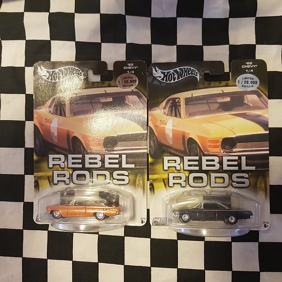 Hot Wheels 2004 Rebel Rods 62 Chevy Orange or Blue