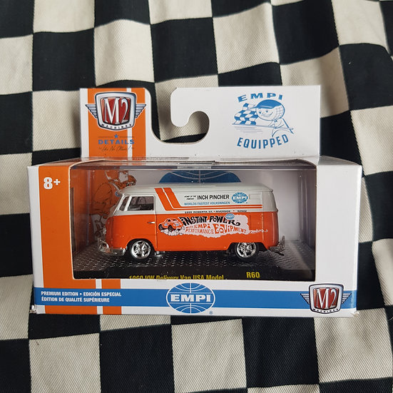 M2 Machines 1;64 Boxed 1960 Vw Delivery Van Type 2  Kombi EMPI Equipped