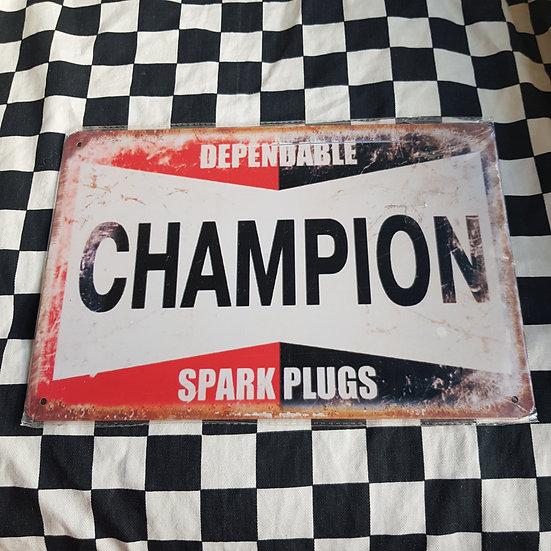 Tin Sign Repro 20x30 Dependable Champion