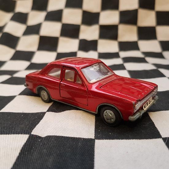 Vintage Dinky Ford Escort RED