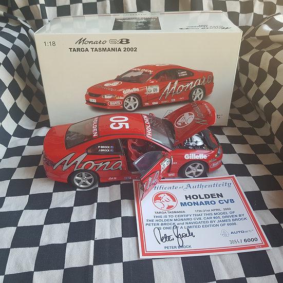 Classic Carlectables1:18 Peter Brock Targa Tasmania Holden CV8 Monaro