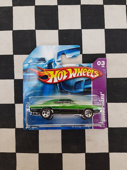 Hot Wheels 2008 Muscle Mania 69 Dodge Charger Green Short Card