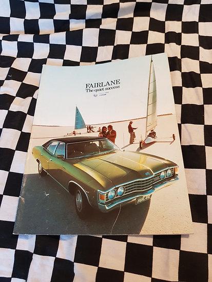 Original Zg Fairlane Full Ford Sales Brochure