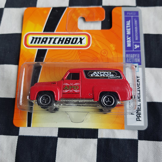 Matchbox Mbx Metal 55 56 Ford F100 Panel Delivery Van Red Short Card
