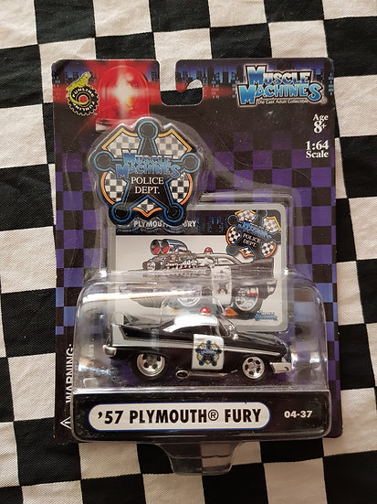 Muscle Machines Police Department 57 Plymouth Fury