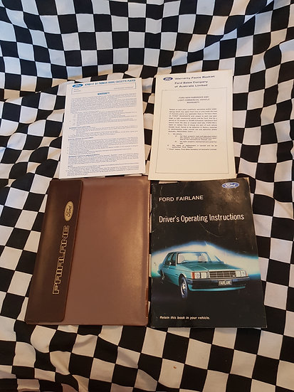 NEW OLD STOCK Ford Fairlane Owners Manual, Warranty Cards & Wallet