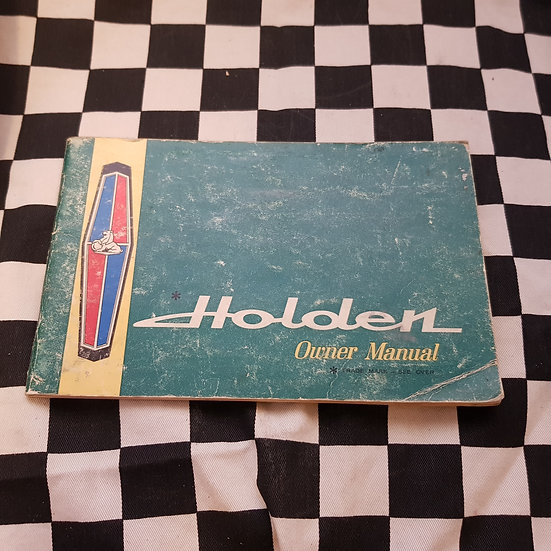 Original HR Holden Owners Manual