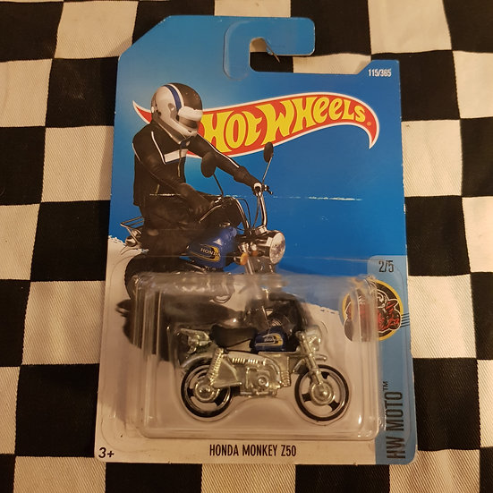 Hot Wheels 2018 Moto Honda Monkey Z50 Dark Blue