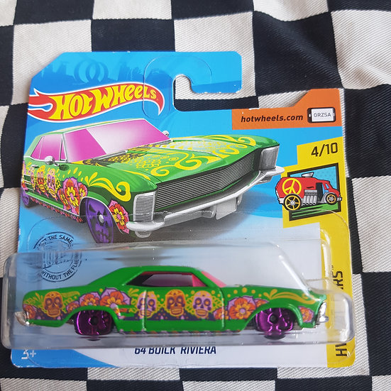 Hot Wheels 2019 Art Cars 64 Buick Riviera Short Card