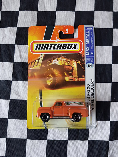 Matchbox 2007 56 Ford F100 Panel Delivery  orange