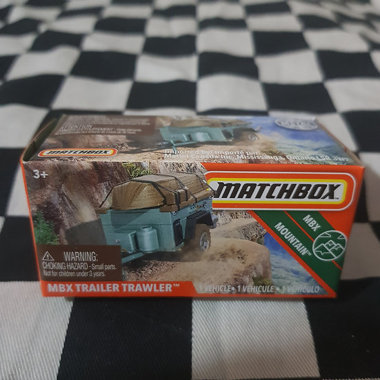 Matchbox Power Grab Trailer Trawler Camping Trailer