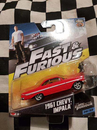 Fast & Furious 1:50 1961 Chevy Impala HTF