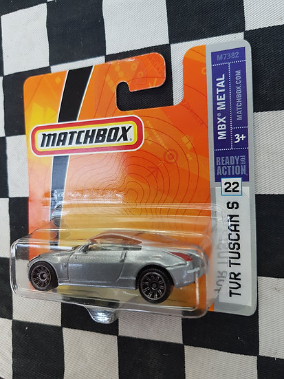 Matchbox ERROR WRONG CARD Nissan on Tur Tuscan S Card 2007