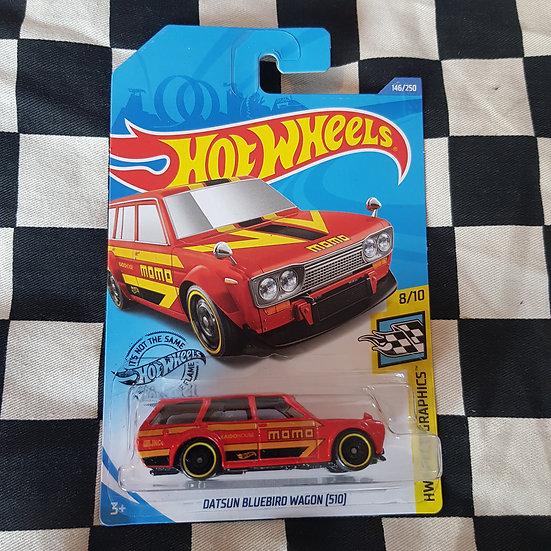 Hot Wheels 2020 Speed Graphics Momo Datsun 510 Bluebird Wagon 1600 Red
