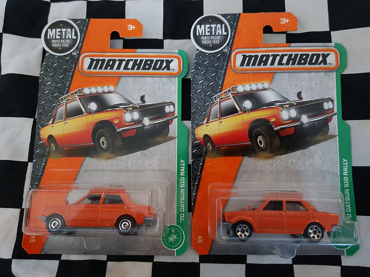 Matchbox Datsun 510 Rally (both Variations available)