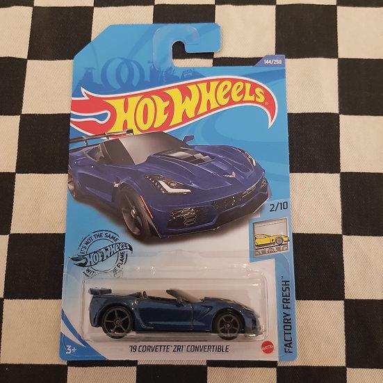 Hot Wheels 2020 Factory Fresh 19 Corvette ZR1 Convertible Blue