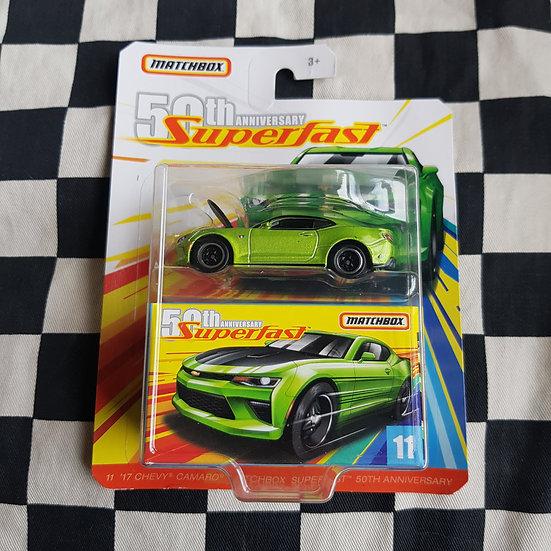 Matchbox Superfast 50th Anniversary 17 Chevy Camaro