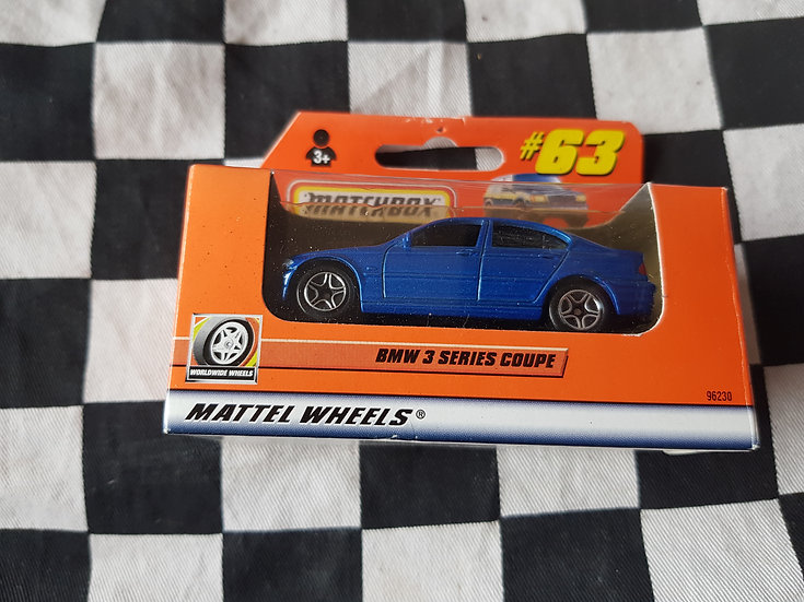 Matchbox Boxed 1999 #63 BMW 3 series coupe Blue