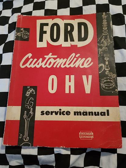 1955 56 FORD CUSTOMLINE Workshop Manual