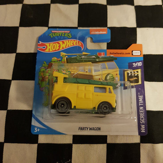 Hot Wheels 2020 Screen Time TMNT Party Wagon Short Card
