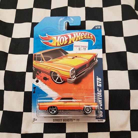Hot Wheels 2011 Street Beasts 65 Pontiac GTO Orange