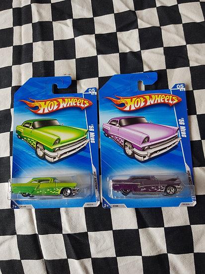 Hot Wheels 2010 Hot Auction 56 Merc 1956 Mercury 2 door Fairlane Customline