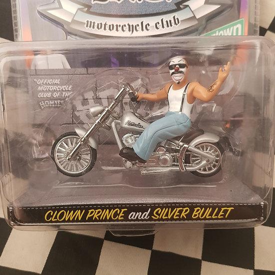 Jada Homierollerz Motorcycle Club Clown Prince & Silver Bullet Harley 1:24