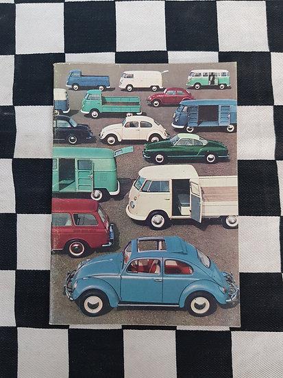 Genuine Volkswagen Product Range Booklet kombi beetle type 3 karman ghia