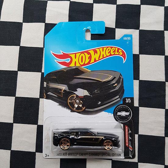 Hot Wheels 2018 50TH Anniversary 2013 Chevy Camaro Special Edition Black