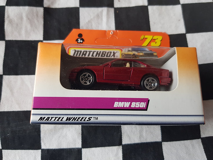Matchbox Boxed 1997 #73 BMW 850i Red