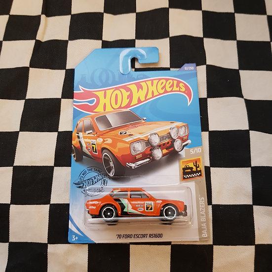 Hot Wheels 2020 Baja Blazers 70 Ford escort RS1600 Orange