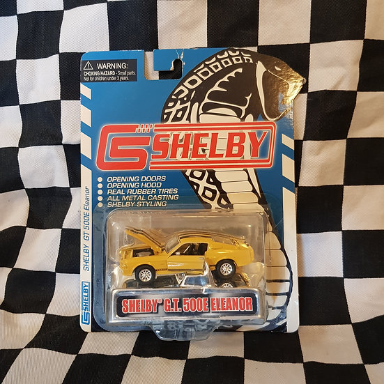 Shelby Collectibles Shelby GT500E Eleanor Mustang Yellow Black Stripes
