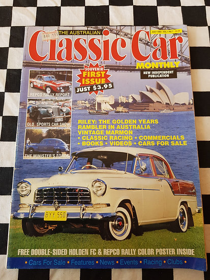 THE AUSTRALIAN CLASSIC CAR magazine First issue