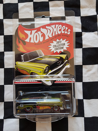 2017 Hot Wheels mail in COLLECTOR EDITION 56 chevy convertible