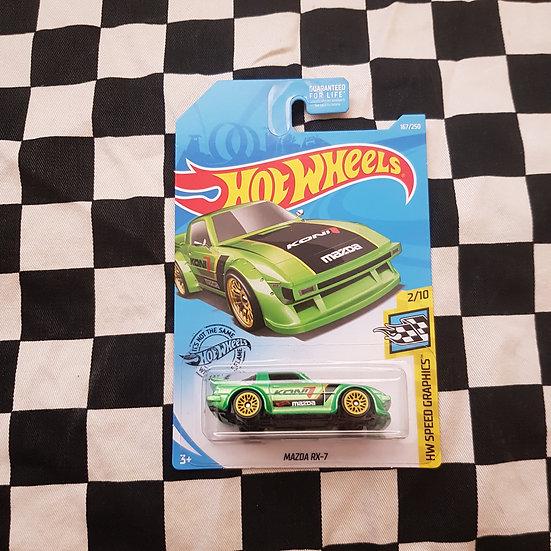 Hot Wheels 2019 Speed Graphics Mazda RX7 Green