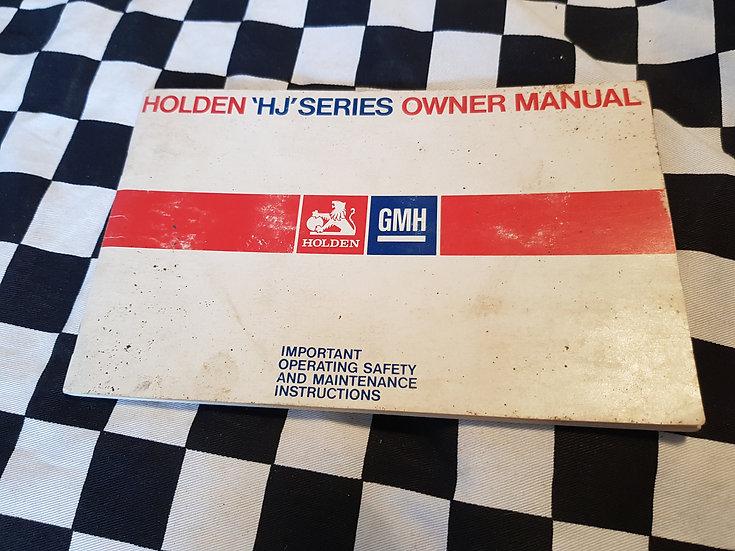 Holden HJ Owner Manual