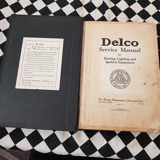 Rare! 1924 Delco Service Manual Vintage Veteran Cars