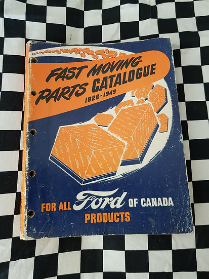 Factory Ford Fast Moving Parts Catalogue 1928 to 1949