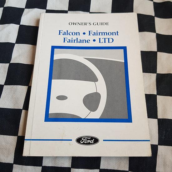 NOS Ford AU Falcon XR6 XR8 Fairmont Fairlane Ltd Owners Guide Aug 1999 Print