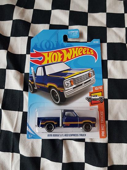 Hot Wheels Hot Trucks 1978 Dodge Lil Red Express Truck Dark Blue
