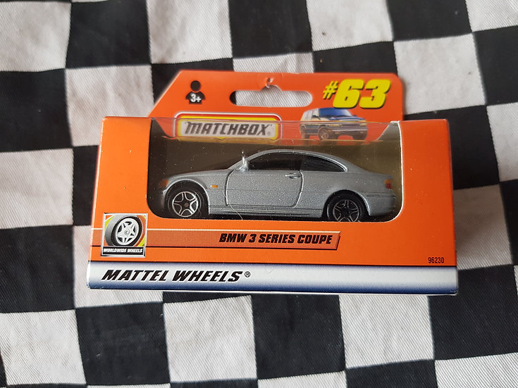 Matchbox Boxed 1999 #63 BMW 3 series coupe Silver