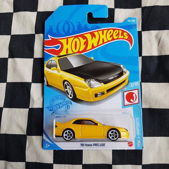Hot Wheels 2021 J Imports 98 Honda Prelude Yellow