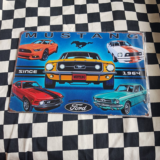 Tin Sign Repro 20x30 Mustang Since 64