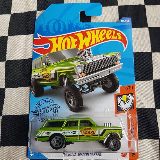 Hot Wheels 2020 Muscle Mania 64 Nova Wagon Gasser Green