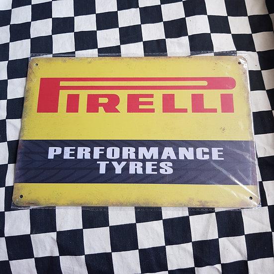 Tin Sign Repro 20x30 Pirelli