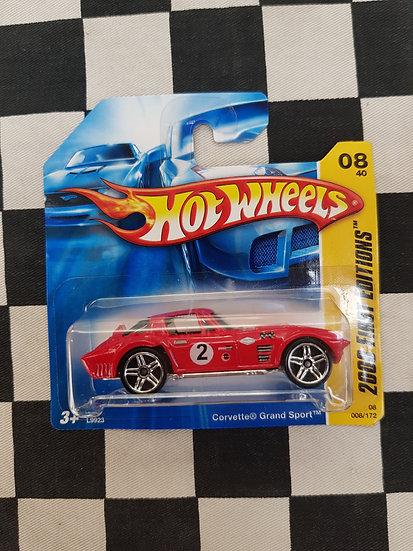 Hot Wheels 2008 First Editions Corvette Grand Sport Red Short Card