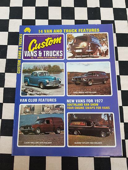CUSTOM VANS & TRUCKS magazine #1 MINT