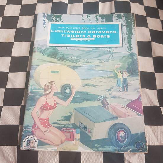 1966 Keith Winser's Book of Plans Lightweight Caravans Trailers & Boats