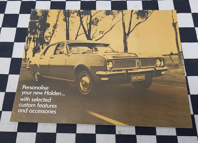 Original HG HOLDEN Full Range NASCO Accessories Brochure